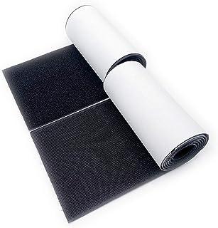 "Vkey 100mm Wide (Approx 4"") 1 Meter Long Self Adhestive Strips Super Sticky Back Nylon Hook Loop Fastener Magic Tape Black"