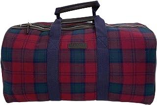 HACKETT LONDON MEN'S TARTAN PLAID 100% WOOL TRAVEL DUFFLE BAG