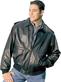 Men's Bomber Leather Jacket Union Made in USA