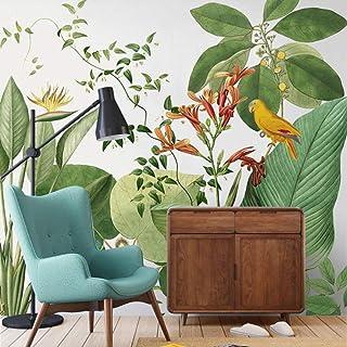 UKWCDSKK ورق جدران نبات استوائي ثلاثي الأبعاد منظر طبيعي للخلفية الطازجة ورق حائط جداري كبير للنباتات الخضراء