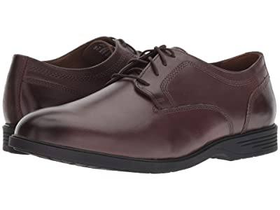 Hush Puppies Shepsky Plain Toe Oxford (Dark Brown Leather) Men