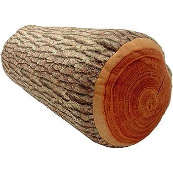 3D Wood Log Soft Cushion throw Pillow Stuffed Plush Home Decor KT00001 ~ We Pay Your Sales Tax