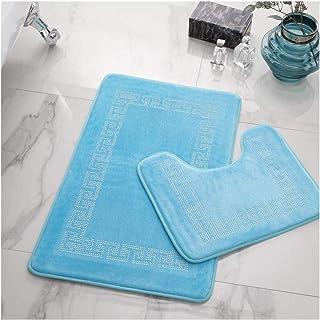 Gaveno Cavailia Luxury Soft & Cosy Lot de 2 Tapis de Bain à mémoire de Forme en Polyester Ultra Absorbant 50 x 80, 50 x 40...