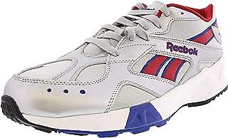 Reebok Men's Aztrek Fabric Low Top Lace Up Fashion Sneakers Red Size 0