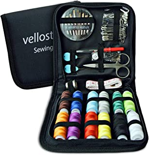 Sewing KIT, Tackle Any Fashion Emergency - Clothing Repairs at Home & in The Office. Highly-Rated Mini Sew Kit for Travel Trips. Mending Supplies & Accessories (Black, Pack of 1-Medium)