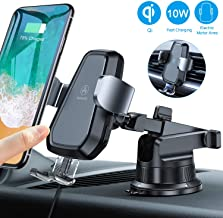 VANMASS Wireless Car Charger Mount, Automatic Clamping Qi 10W 7.5W Fast Charging Car Mount, Dashboard Air Vent Phone Holder Compatible with iPhone 11 Pro Max Xs X 8, Samsung S10 S9 Note10, Rotate Lock