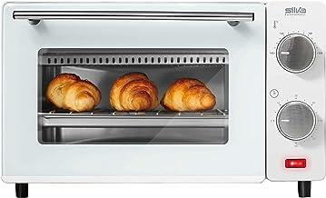 Silva Homeline MB 9500 MB 9500 Mini-four réglable à 100-230 °C avec plaque de cuisson, grille et pince 650, acier inoxydab...