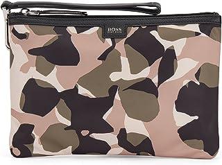 BOSS Damen Taylor Pouch-NC Pouch aus recyceltem Nylon mit Camouflage-Print und Reißverschluss