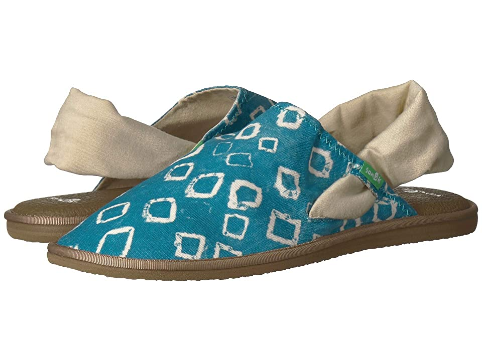 Sanuk Yoga Sling Cruz Signature (Enamel Blue Print) Women
