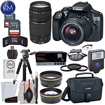 Amazon Com Canon Eos Rebel T6 Dslr Camera W Ef S 18 55mm Lens Ef 75 300mm Lens 2 X 32 Gb Memory Premium Accessory Bundle Camera Photo