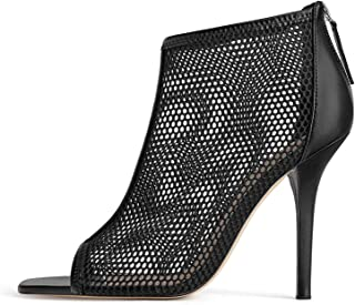 e3a7b92124d Zara Women Wraparound mesh high Heel Sandals 1386 001