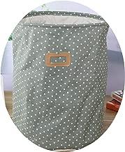Waterproof Cotton linen foldable Laundry Basket Dirty clothing Kids Toy Organizer tool storage,12