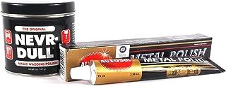Nevr Dull Polierwatte für Chrome, Alu, Messing und andere Metalle 142 g & AUTOSOL Metal Polish Metallpolitur Chrompolitur 75 ml