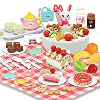 Deals on 88-Pcs Remoking Educational Food Pretend Play DIY Cake Toy
