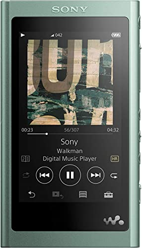 Sony NW-A55L 16GB Walkman Hi-Res Portable Digital Music Player with Touch Screen, S-Master HX and DSEE-HX - Green