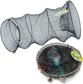 BPS Red de Pesca Malla Cesta de Camarones Pesca Cangrejo Plegable Jaula de Pesca Trampa 2 Tamaños para Elegir