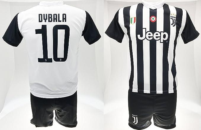 Completo Dybala 10 Juventus Juve Bambino Uomo Adulto Maglia Pantaloncini Replica Ufficiale 2017-18 Home