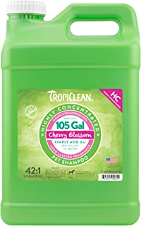 TropiClean Cherry Blossom High Concentrate Shampoo for Pets, 2.5 gal, Made in USA
