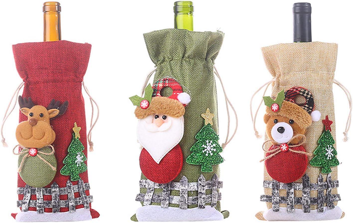 BBQQ - Juego de botellas de vino con diseño de flores