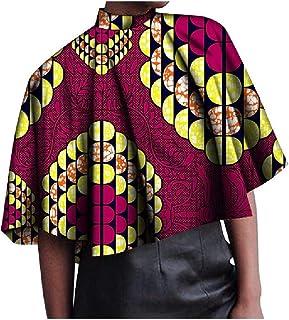 SportsX Women's African Loose Dashiki Cotton Ethnic Style Blouse Tees Shirt