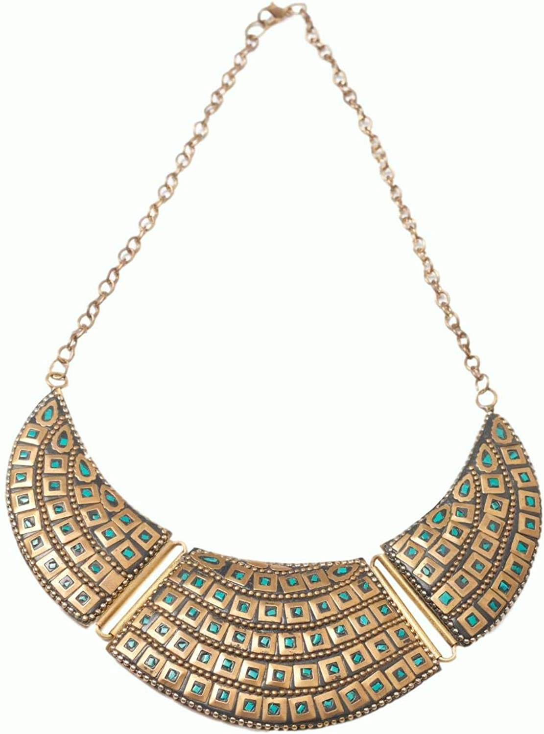 SINGH BOUTIQUE  DAXA Indian Stone Necklace