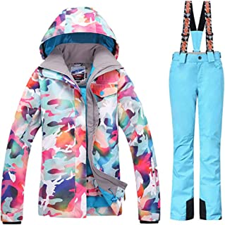 GS SNOWING Women Winter Waterproof Windproof Insulatd Snowboarding Jackets Ski Snow Coats and Pants