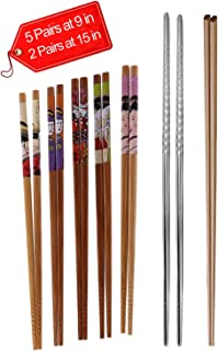 MSCOLOG Wooden Chopstick-Natural Wooden Bamboo Chopsticks Wooden Cooking Chopsticks For Frying Noodle Pot Chopsticks