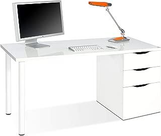 Habitdesign 004604A - Mesa ordenador reversible dos cajones
