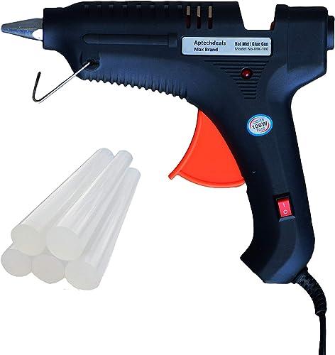 APTECH DEALS Max 100 W Glue Gun with 5 Glue Sticks