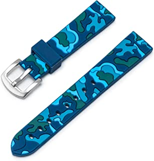 Ullchro Silicone Watch Strap Replacement Watch Band Waterproof Camouflage Military - 18, 20, 22, 24mm