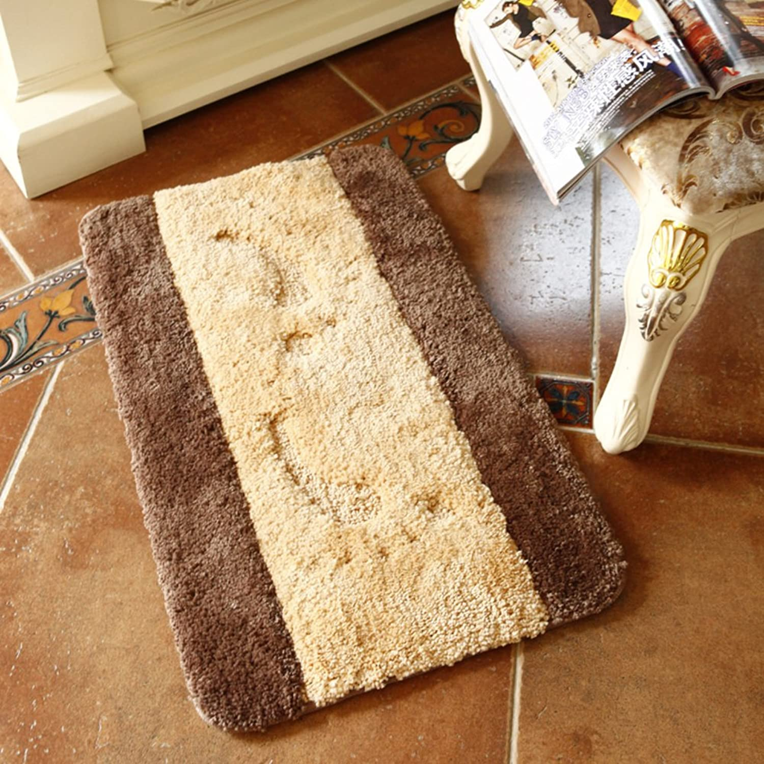 Living Room Indoor mats doormats European Household mats Bedroom Blanket for Bedroom Bathroom Water-Absorbing Non-sliping mats-E 80x120cm(31x47inch)