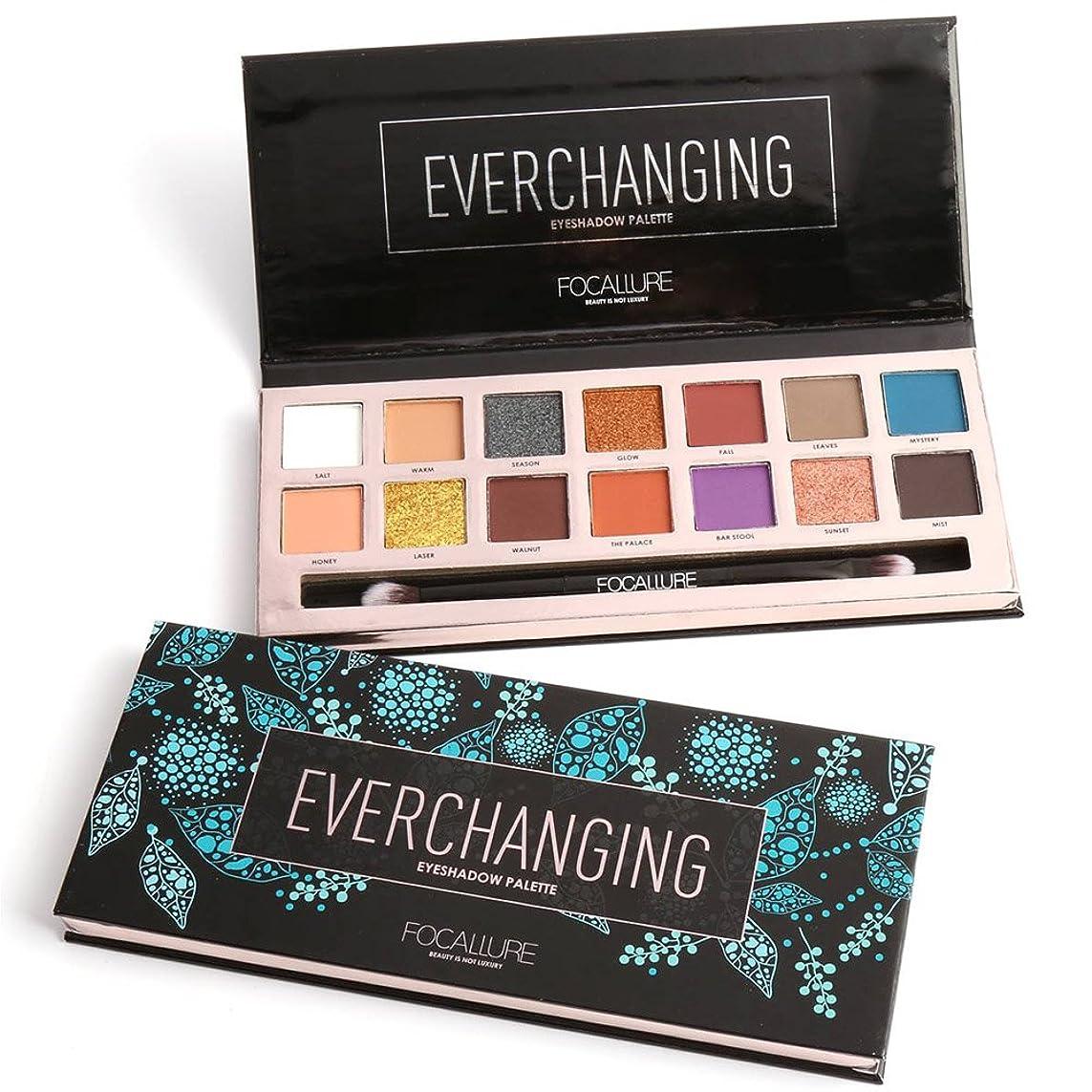 下品サミュエル茎14 Colors Eyeshadow Palette Matte Glitter Shimmer Everchanging Eyeshadow Palette with Brush 14色のマット?グリッター?シマーEverchangingアイシャドウパレット(ブラシ付き)