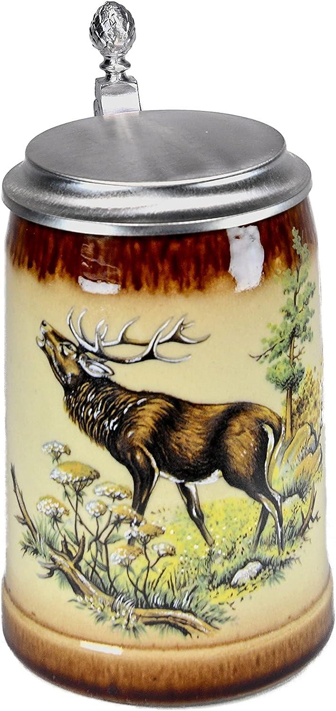Beer Mug by King - Deer Stein German Industry Attention brand No. 1 Wildlife 0.
