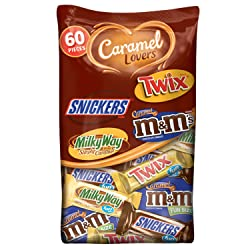 Mars Chocolate Caramel Lovers Fun Size Halloween Candy Bars Variety Mix 37.64-Ounce 60-Piece Bag (M&