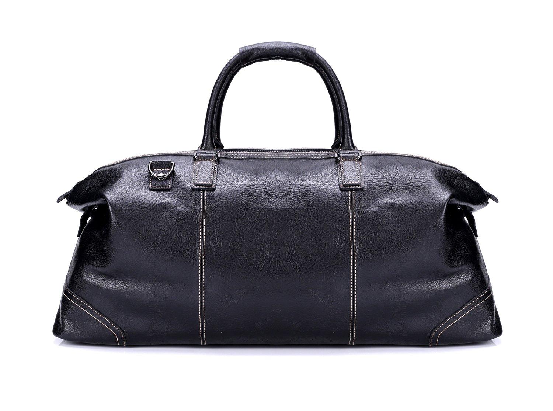 Geremen 欧美真皮长途旅行包 手提超大容量行李包 疯马牛皮男包 S8085 (黑色)