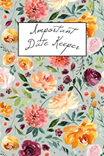Important Date Keeper: Watercolor Floral