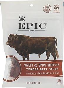 Epic Jerky Bites, 100% Grass Fed, Sweet & Spicy Sriracha, Beef, Cranberry, 2.5 oz.