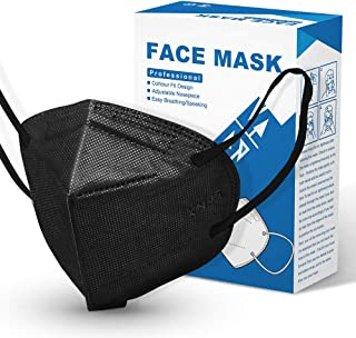 [10 Pieces] Disposable KN95 Face Mask Mouth Cover Masks (Black)