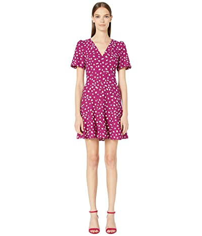 Kate Spade New York Mallow Dot Crepe Dress (Beet Juice) Women