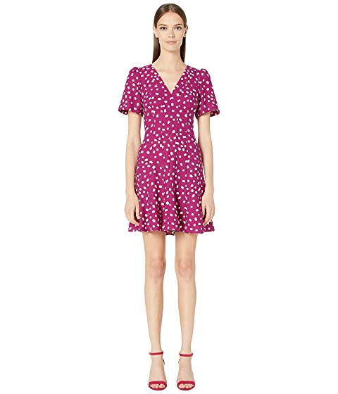 Kate Spade New York Mallow Dot Crepe Dress