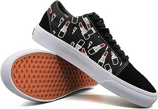 Women Skate Shoes Lipstick Lightning Classic Suede Sneaker Walking Shoe Laces