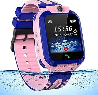 Montre GPS Enfant Tracker Étanche Montre Connectée Enfants Fille Garçon Montre Telephone Enfant avec SOS Chat Vocal LBS Ap...