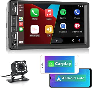 $92 » Double Din Apple Carplay Car Stereo with Bluetooth, Rimoody 7'' Touch Screen Car Radio with FM RadioMirror Link Android Au...