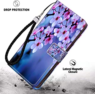 Phone Wallet Case Fits for Apple iPhone 11 Pro (2019) 5.8 Version Cherry Blossom Wallpaper Good Looking