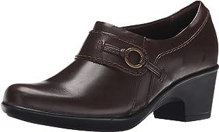 حذاء حريمي بكعب متوسط منحنٍ من الجيل باللون البني مقاس 6 M من CLARKS