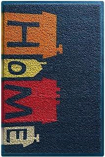 XY フロアマット - 高密度環境に優しいワイヤーリング/耐摩耗性滑り止めボトム、汚れや滑り止め、戸口に入る家庭用ホール簡単ケアワイヤーループフロアマット - 3色、4サイズ利用可能 ブティック (色 : Dark blue bottom - home, サイズ さいず : 60*90cm)