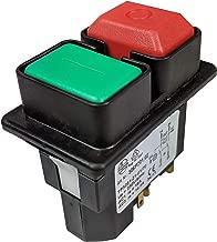 Interruptor conmutador basculantes de boton DPST ON-OFF 6A//250V 2 posiciones AERZETIX Azul C10738