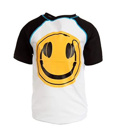 Appaman Kids Happy Face Head Phones Rashguard (Infant/Toddler/Little Kids/Big Kids) (Black) Boy