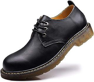 [HIMAWARI] マーチンシューズ ワークブーツ メンズ ローカット 革靴 レースアップ エンジニアブーツ カジュアル 24~28