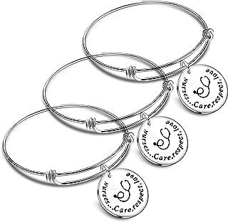Nimteve 3PCs Nurse Gifts Nurse Bracelet Nursing Bracelet for Birthday Inspirational Bracelets Nurse Appreciation Gift Nurs...